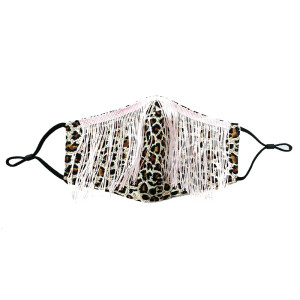 Dust proof fashionable color diamond cotton cloth with rhinestone  tassels face mask