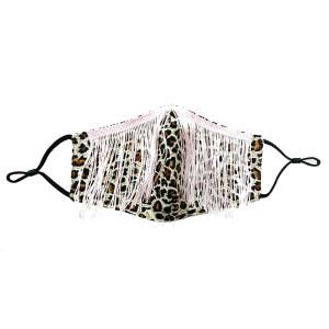 Paño de algodón de diamantes de color de moda a prueba de polvo con mascarilla de borlas de diamantes de imitación