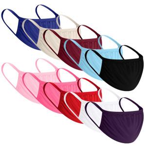 Einzelne Sonnencreme Gesichtsmaske aus reiner Baumwolle Sonnenschutz im Freien Anti-UV atmungsaktiv Ohr hängend einfarbig mehrfarbige Maske