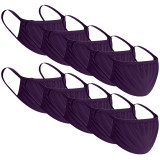 Protector solar individual mascarilla de algodón puro parasol al aire libre anti UV transpirable tipo colgante de oreja color sólido máscara multicolor