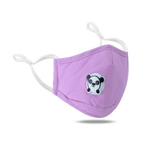 MOQ10 Cartoon Bear cute dustproof and breathable washable solid color adjustable mask with breathing valve