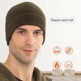 Gorro cálido Sombrero de lana polar de invierno europeo y americano Gorra de esquí para hombre Gorra de montar Gorra de lana fría