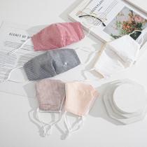 スパンコール光沢のあるスパンコール、防塵、通気性、水洗い可能なフェイスマスク、調整可能なイヤーバックル
