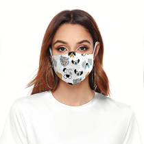 大人の3Dデジタル印刷保護マスクはPM2.5フィルターフェイスマスクを置くことができます