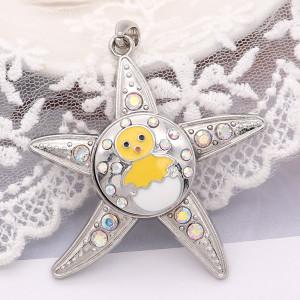 Pendentif étoile de mer avec bouton-pression pour bijoux de style 20MM