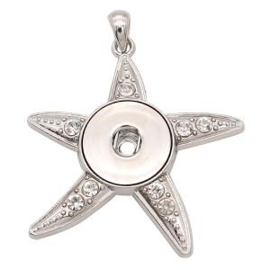 Colgante de astilla con broche de estrella de mar apto para joyas de estilo broche de 20 mm