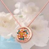 Collier or rose 46cm chaîne fit 20MM morceaux de bijoux