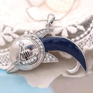 Collar delfín plata 46cm cadena apta 20MM trozos broches joyería