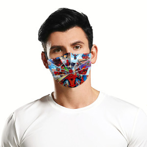 Erwachsenen 3D Digitaldruck Schutzmaske kann PM2.5 Filter Gesichtsmaske setzen