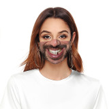 Le masque de protection d'impression numérique adulte 3D peut mettre le masque facial de filtre PM2.5