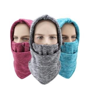 Montar al aire libre multifuncional cálido esquí cubierta de cuello bufanda montar a prueba de viento y a prueba de frío vellón mascarilla tocado gorra de montar cuello polaina