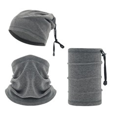 Winter multi functional warm neck ski drawstring outdoor sports windproof head cover neck cover riding cold face mask neck gaiter