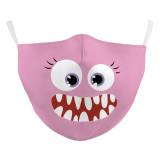 MOQ50子供用新しいカスタマイズされたデザインの3Dデジタル印刷保護マスクはPM2.5フィルターを置くことができます子供用フェイスマスク
