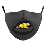 Le masque facial de mode lavable pour adultes Design Lips Arts comprend une poche pour filtre sangles d'oreille élastiques