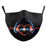 MOQ50 adulte design personnalisé lèvres arts masque de mode lavable comprend une poche pour filtre sangles d'oreille élastiques en tissu souple