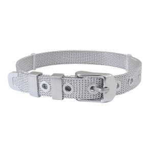 NOUVEAU Bracelet à breloques Bracelets en acier inoxydable de 21 cm (largeur: 8 mm)