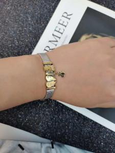 NEU Charm Armband Edelstahl 21CM Armbänder (Breite: 8mm)