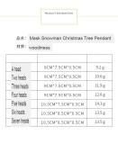 DIYの祝福の言葉木製ペンダントマスク雪だるまクリスマスツリーハンギングペンダントクリスマスデコレーション