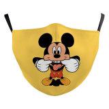 MOQ50 Máscara facial lavable de moda con diseño personalizado para adultos, incluye bolsillo para filtro, correas elásticas de tela suave