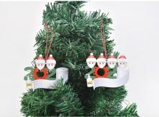 DIY bendición palabras colgante de madera máscara muñeco de nieve árbol de Navidad colgante decoración navideña