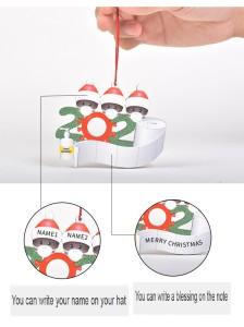 DIY Segen Worte Holz Anhänger Maske Schneemann Weihnachtsbaum hängen Anhänger Weihnachtsdekoration