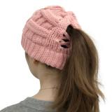 Bonnet creux en prêle avec dos ouvert pour chapeau chaud en laine pour femmes