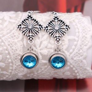 Boucles d'oreilles plaquées argent à pression 12 mm breloques s'enclenche bijoux