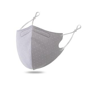 MOQ10 Mascarilla de algodón estampada lavable a prueba de polvo y transpirable con botón de oreja ajustable para ventilación