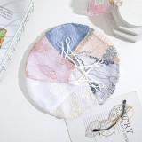 Masque facial en coton imprimé lavable et respirant avec bouton d'oreille réglable pour la ventilation