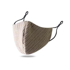 Staubdichte und atmungsaktive waschbare bedruckte Gesichtsmaske aus Baumwolle mit verstellbarem Ohrknopf zur Belüftung