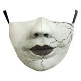 MOQ10 Adult 3D Digitaldruck Schutzmaske kann PM2.5 Filter Gesichtsmaske setzen