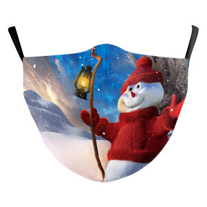 MOQ10クリスマスアダルト3Dデジタル印刷保護マスクはPM2.5フィルターフェイスマスクを置くことができます