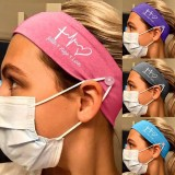 MOQ10 Masque de bouton d'infirmière en soie de lait élastique Bandeau bandanas