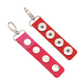 Pu Leater Fashion Llavero 4 botones en forma de broches de presión Joyas de broches