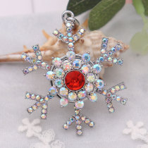Christmas snap sliver Pendant  fit 20MM snaps style jewelry