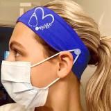 MOQ10 Elastische Milchseide Krankenschwester Knopf Maske Stirnband Bandanas