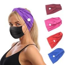 MOQ10 Elastische Milchseidenknopfmaske Stirnband Bandanas