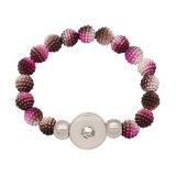 1 boutons avec bouton pression Perles en plastique bracelet fit boutons pression bijoux