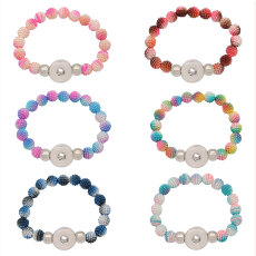 1 buttons With  snap Plastic beads  bracelet fit snaps jewelry