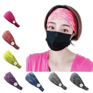 Elastische Milchseidenknopfmaske Stirnband Bandanas