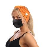 MOQ10 Masque de bouton en soie de lait élastique Bandeau bandanas