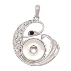 snap sliver Pendant  fit 20MM snaps style jewelry