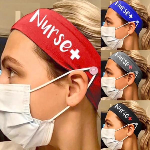 MOQ10 Эластичная маска для медсестры из молочного шелка Банданы с повязкой на голову