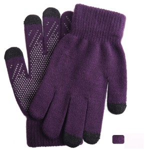 Gestrickte warme Handschuhe Damen Winter extra dicke rutschfeste Wolle Outdoor benutzerdefinierte Touchscreen-Handschuhe
