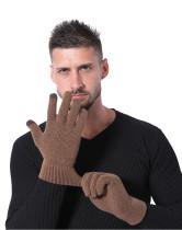 Вязаные теплые перчатки мужские зимние очень толстые нескользящие шерстяные перчатки с сенсорным экраном на заказ