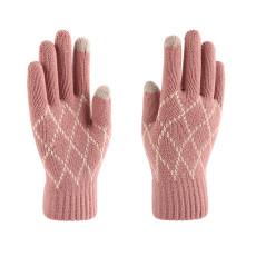 Gants chauds tricotés pour femmes hiver extra épais laine antidérapante gants à écran tactile personnalisés