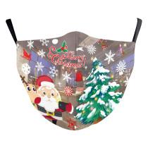 MOQ10 Christmas Adult 3D Digitaldruck Schutzmaske kann PM2.5 Filter Gesichtsmaske setzen