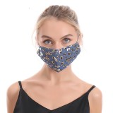MOQ10 3D printing denim leopard cloth mask adult ear hanging rope adjustable mask