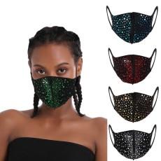 MOQ10 Staubdichtes, modisches Diamant-Baumwolltuch mit Strass-Gesichtsmaske