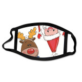MOQ10クリスマスマスク洗える漫画綿マスク外国貿易サンタマスクファッション大人のマスク